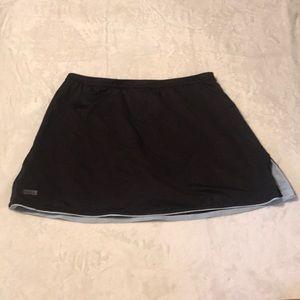 Tail Tech Black w White Polka Dot Tennis Skirt - L